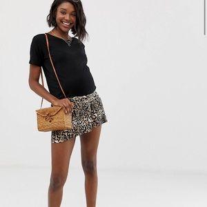 ASOS Maternity Leopard Print Shorts